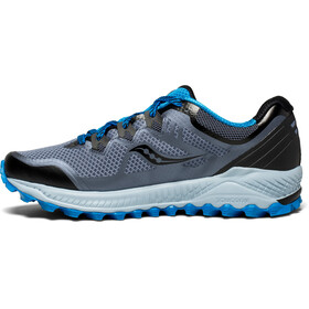 saucony Peregrine 8 Shoes Men Black/Grey/Blue